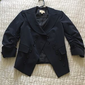 elizabeth and james navy short jacket